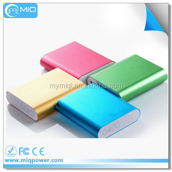MIQ 5v 2a micro usb charger power bank factory LCD 10000mah for Xiaomi