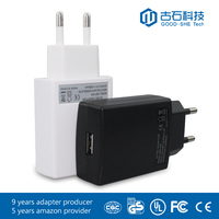Factory wholesale portable charger 5V 2A/1A USB/DC connector adapter for cellphone/tablet/wireless router/led display/PSP