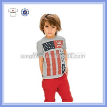 China organic high quality printing t shirt for boys & baby boy