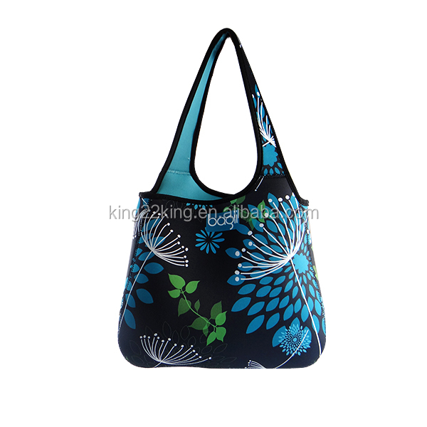 ECO-friendly neoprene women bags with opposite shoulder