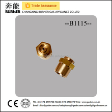 B1115 customized high quality LPG gas brass nozzles/pilot burner assembly