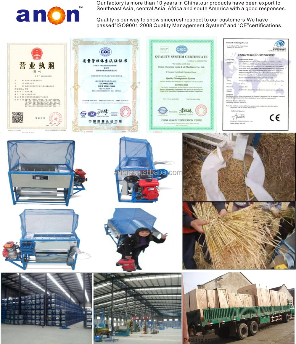 ANON AN5T Series Portable Gasoline Farm Thresher Machines