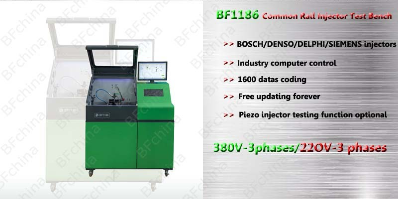 BF1186 free updating piezo injector tester diagnostic tools common rail injector test bench