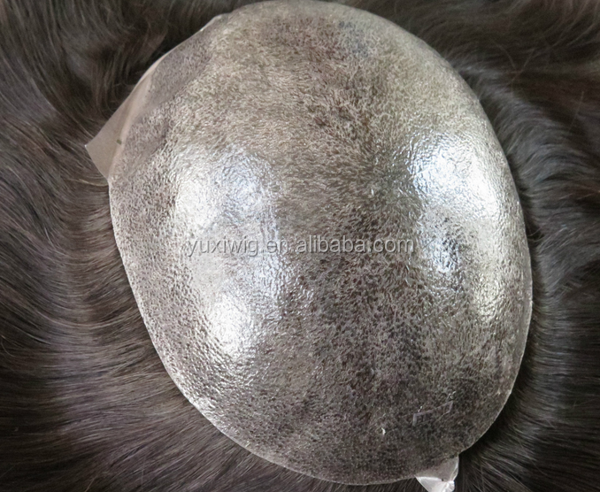 Euro hair injection human hair toupee for men in stock