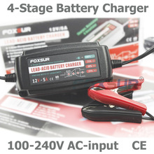 Wholesale original 12V 5A 4-stage smart Lead Acid Battery Charger, pulse charge, Desulfator,100-240V input,waterproof Car batter