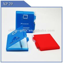 memo pad with plastic case & pen xp29