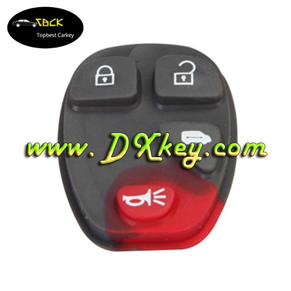 3+1 button rubber pad for GM key silicon rubber button pads