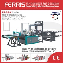 10 lines Bottom sealing machine making plastic bags