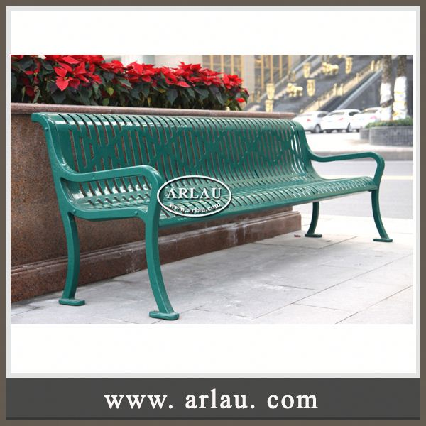 Arlau Wrought Iron Bench For Garden,Perforated Backless Metal Bench,China Wholesale Custom Outdoor Metal Park Bench Legs