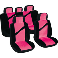 Factory Supply Luxurious Interior Auto Car Seat Cover For Black And Pink
