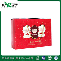 Custom recycle strong CMYK printing paper cardboard shopping box with handle