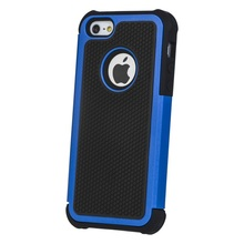Blue 3 in 1 Case Cover For iPhone 5 Football Pattern Hard Phone Case For iPhone 5