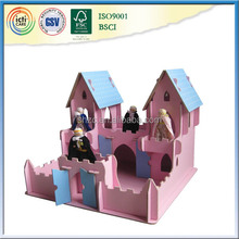 Easy assembled wooden festival decoration kids castle