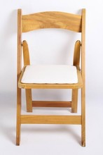 Natural Color Wood Party Hotel Wedding Rental Folding Chair