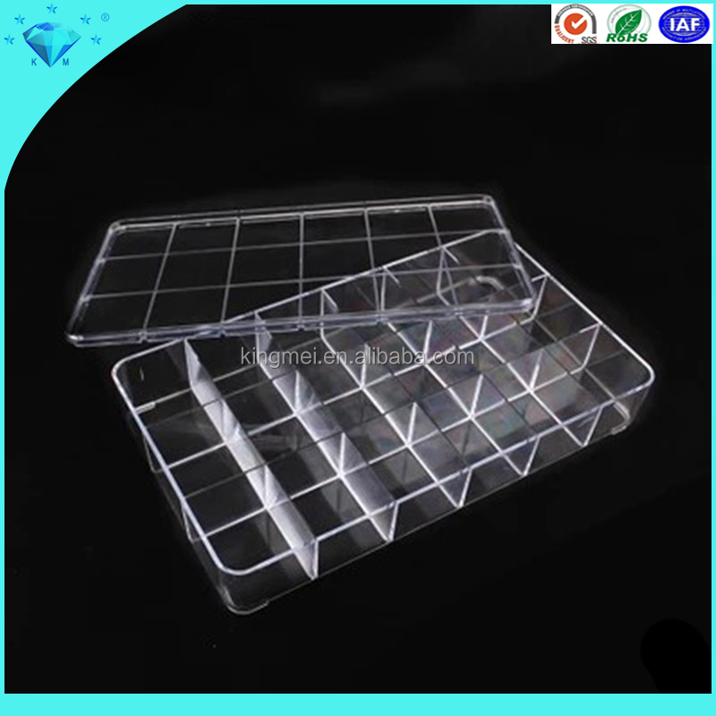 18 Compartment Slot Divided Plastic Storage Box for Decorating Tips