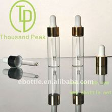 TP-2-13-1 10ml clear cosmetic packaging with aluminum and dropper