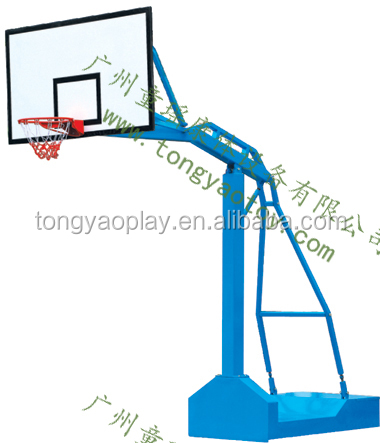 Mobile imitation hydraulic backboard with outdoor fitness equipment