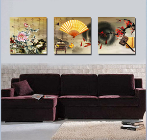 Traditional Interior Wall Frameless Canvas Prints Classical Scenery Painting for Living Room Decoration