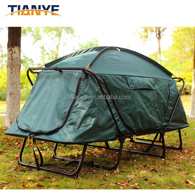 1-2 Person Tent Portable Waterproof Camping Equipment Family Outdoor Tent Bed