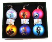 100 wholesale clear glass christmas ball ornaments with print