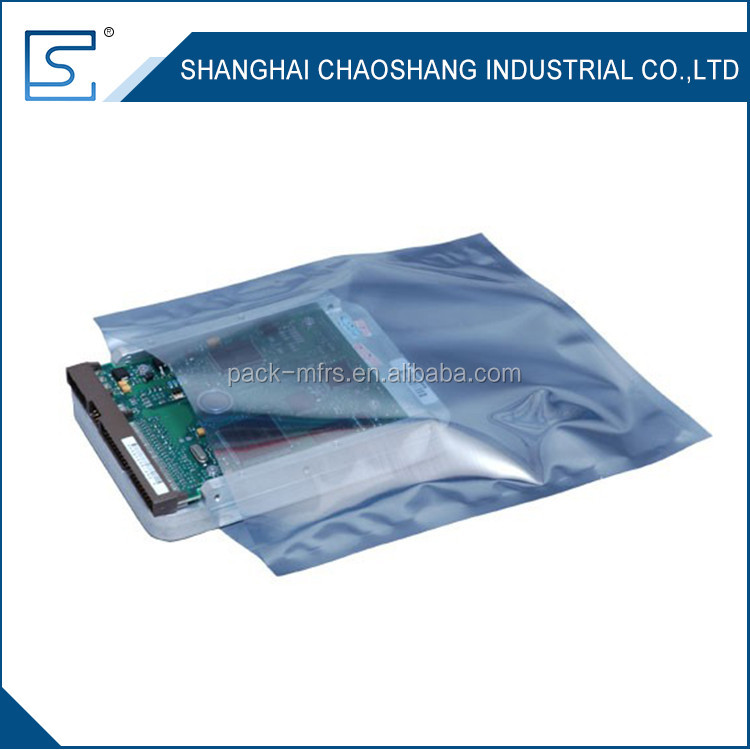Atistatic shielding ldpe esd bags for computer cables & connectors