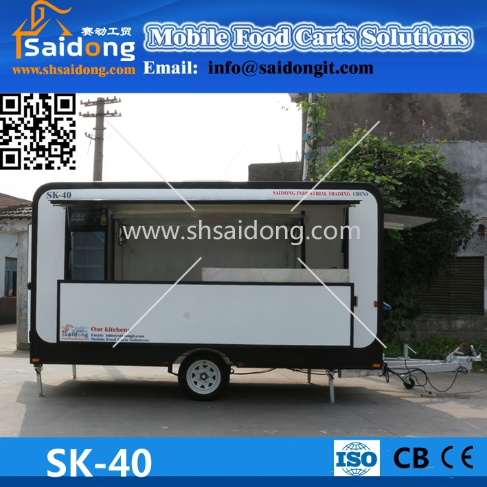 2016 HOT SALES BEST QUALITY street mobile food trailer global food trailer sea food trailer