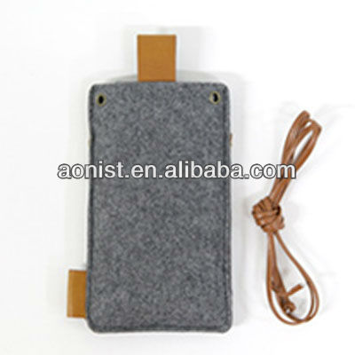 2013 new Felt cloth Mobile phone case with rope