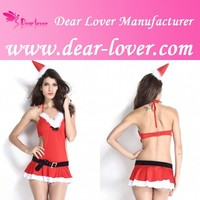 Miss Santa Red Mature Lingerie Sexy Costume Pics