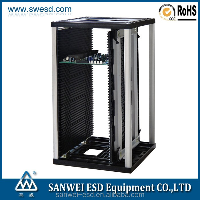 ESD SMT magazine rack/antistatic pcb rack/adjustable pcb rack