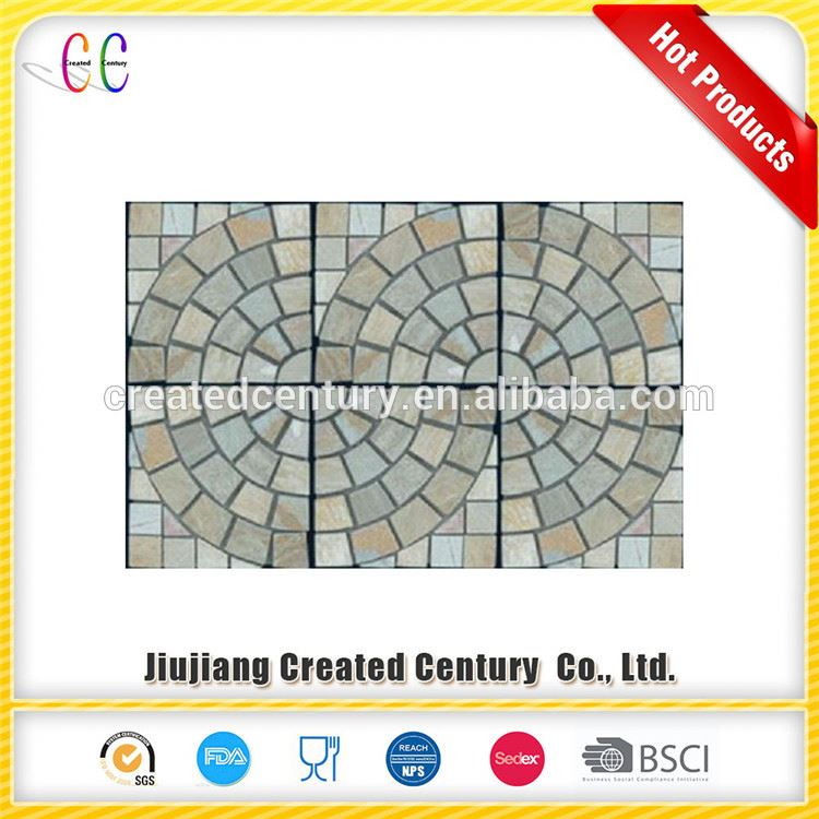 Short time delivery swimming pool decoration mosaic border tiles slate mosaics tile