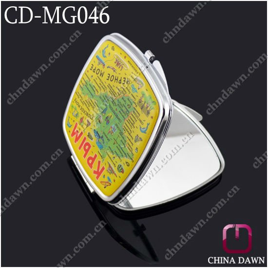 Promotional Square Shaped Cosmetic Handheld Mirror CD-MG046