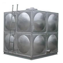 Low price silver and welding stainless steel panel sectional water storage tank