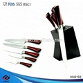 High quality 5pcs knife set and knife sets with block , fruit and vegetable carving knife
