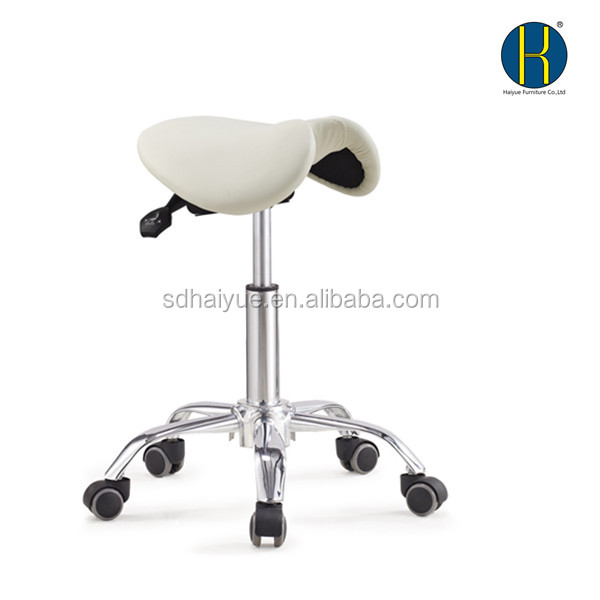 Salon spa saddle chair PU laboratory saddle stool with high quality material