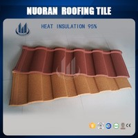 Nuoran 2017 Newest building material roman tiles type stone coated steel roof tile
