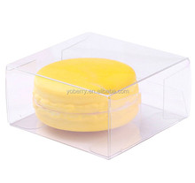 Candy Bakery Single Macaron packaging Clear plastic favor box