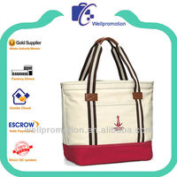 Wellpromotion brand design 16 OZ cotton gusset tote bag