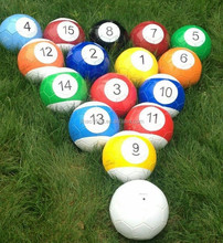 Inflatable snook balls, football snooker balls, snooker balls billiards game