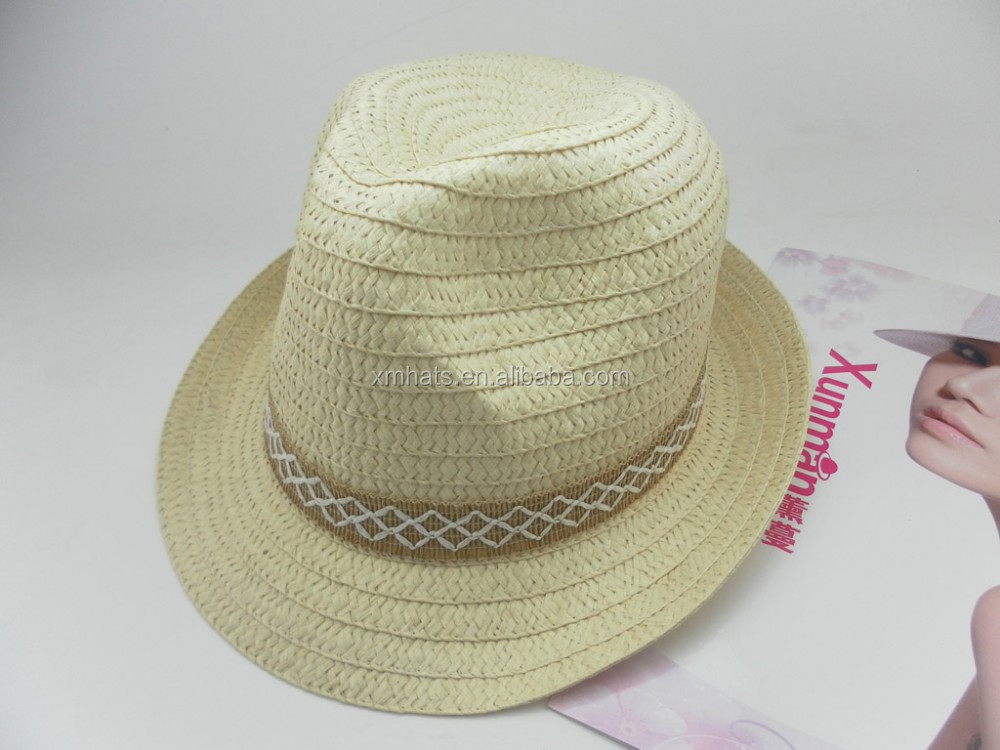 The Newest high quality wholesale paper straw fedora hat