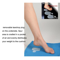high quality silicone gel foot care silicone foot pad/heel cushion for shoes/silicone gel insoles for heel