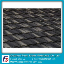Brown Color Weatherproof Classic Stone Coated Metal Roof Tile