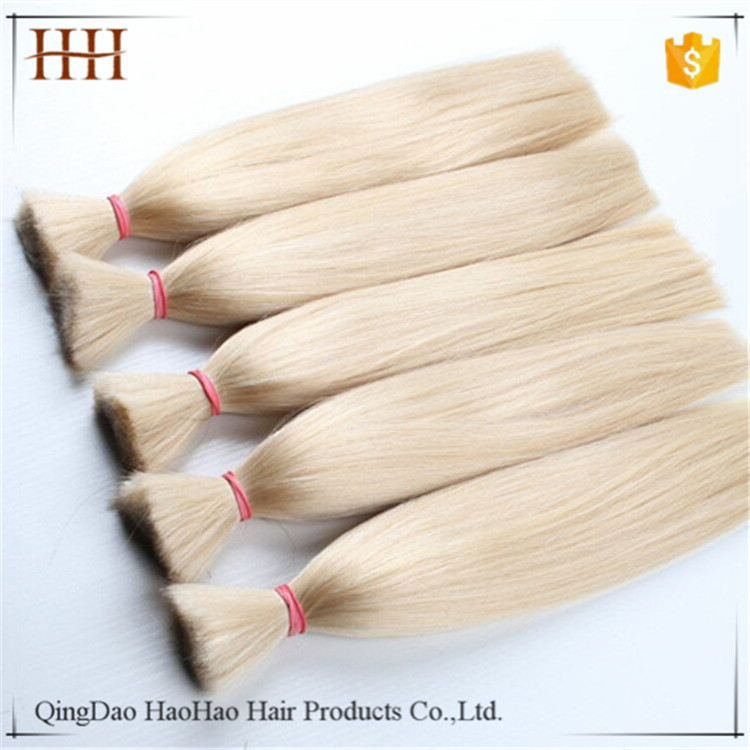 Wholesale factory price unprocessed virgin remy russian human hair bulk