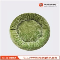 Luxury microfiber pet donut bed /round cat crate mat bed/deep sleep dog bed