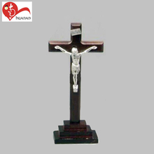 Religious church st Benedict wooden standing metal Jesus wall crucifix