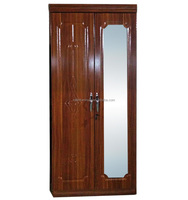Bedroom furniture cheap 2 doors Mdf wardrobe modern design particle board garderobe
