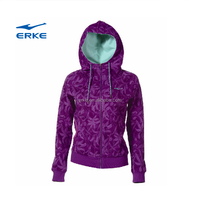 ERKE new ladies womens hoodie hooded zip top zipper sweatshirt jacket coat in stock/available