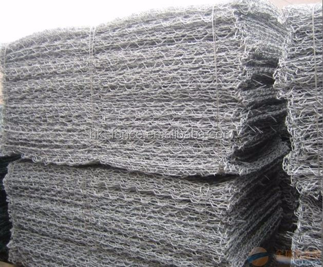 60g ZINC coating gabion mesh box for 10x8 opening 25ton/40inch container