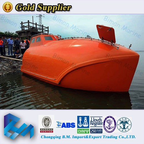 Solas Approved 25 Persons Totally Enclosed Lifeboat for ship