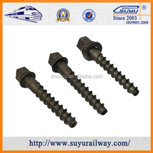 zinc-plated screw spike for railway