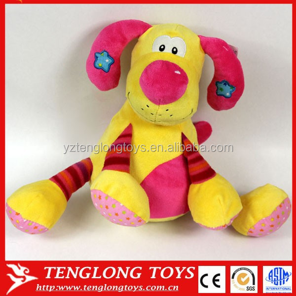 Lucky cartoon plush toy dog for kids